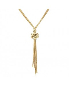 9ct Gold Lariat Style Drop Necklet CN986-18